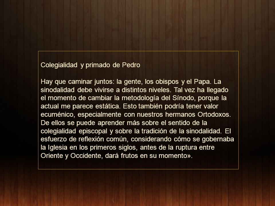 Colegialidad y primado de Pedro