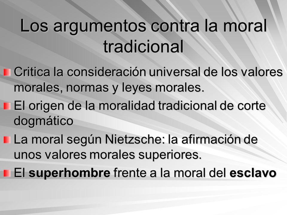 Los argumentos contra la moral tradicional