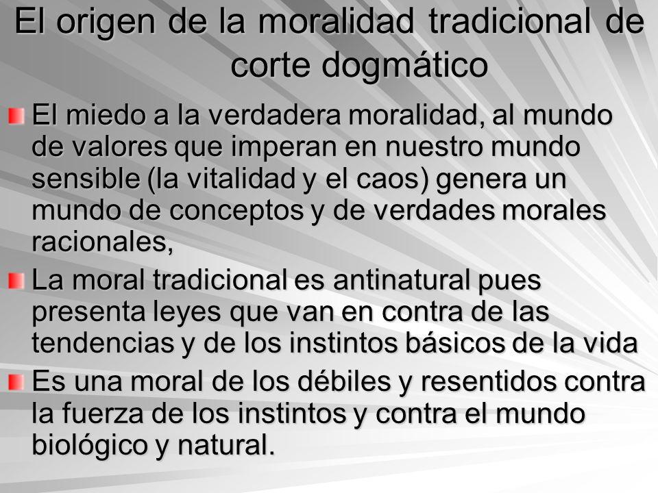El origen de la moralidad tradicional de corte dogmático
