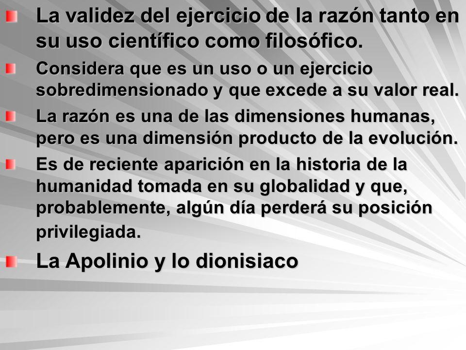 La Apolinio y lo dionisiaco