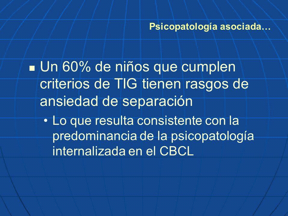 Psicopatología asociada…