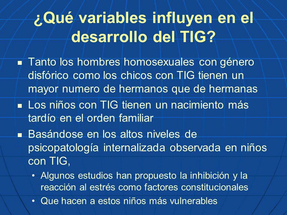 ¿Qué variables influyen en el desarrollo del TIG