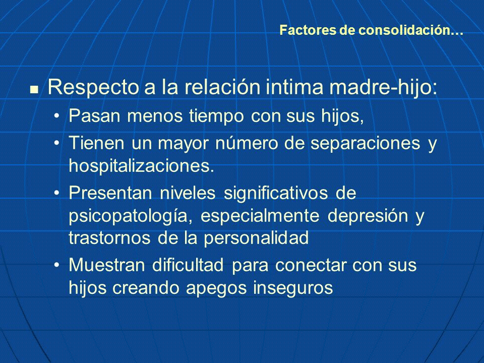 Factores de consolidación…