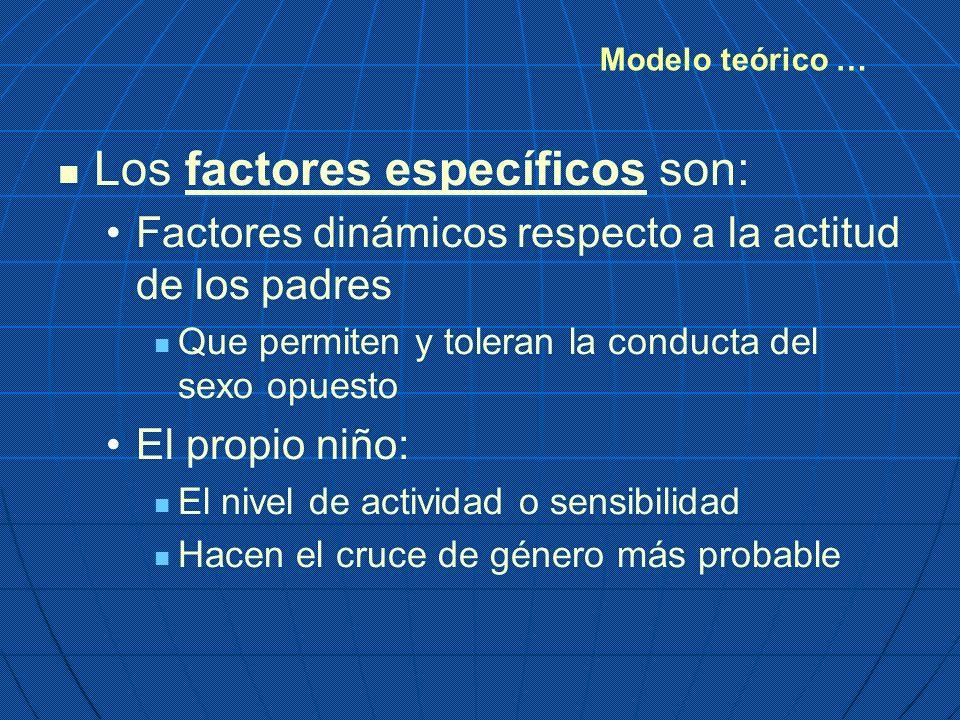 Los factores específicos son:
