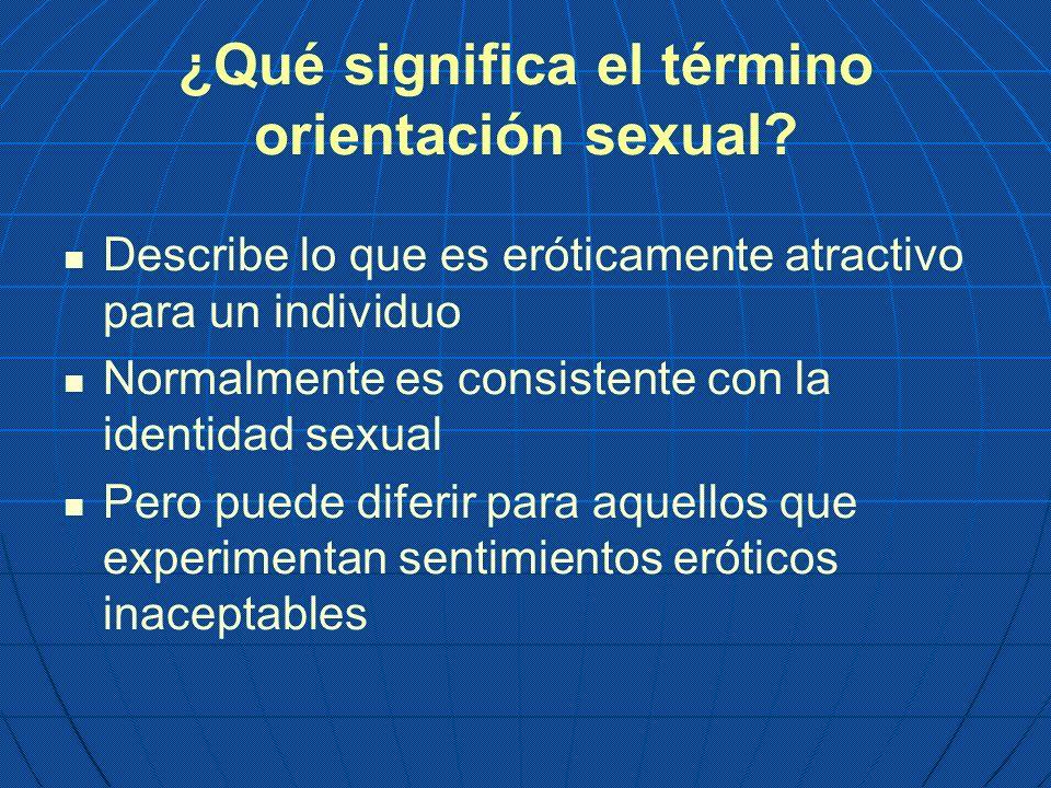 ¿Qué significa el término orientación sexual