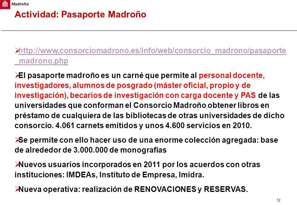 Actividad: Pasaporte Madroño