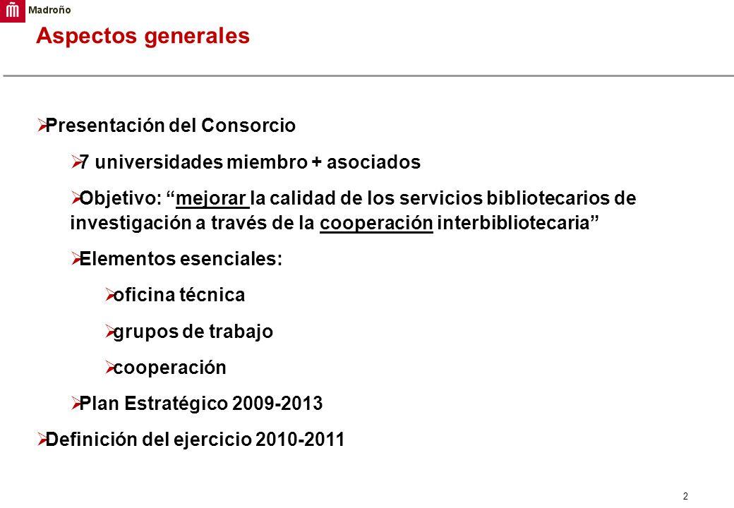 Aspectos generales Presentación del Consorcio