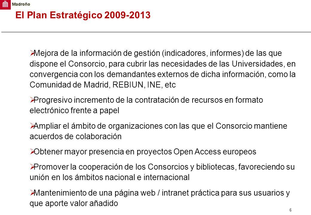 El Plan Estratégico 2009-2013
