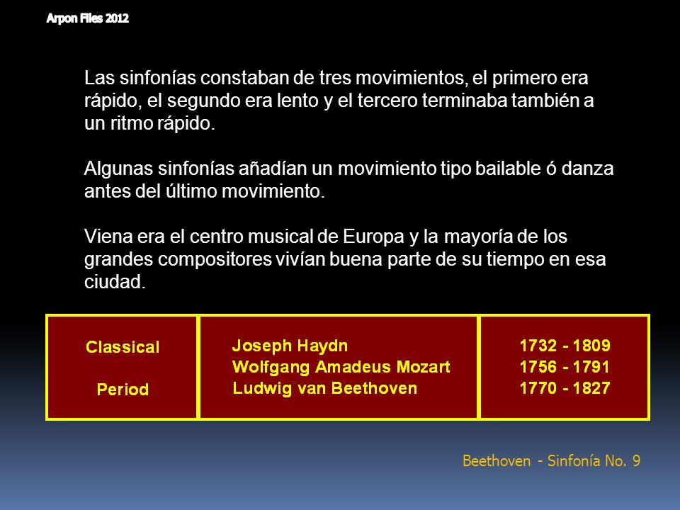 Beethoven - Sinfonía No. 9
