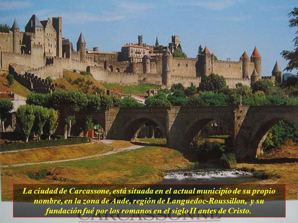 La ciudad de Carcassone, está situada en el actual municipio de su propio nombre, en la zona de Aude, región de Languedoc-Roussillon, y su fundación fué por los romanos en el siglo II antes de Cristo.