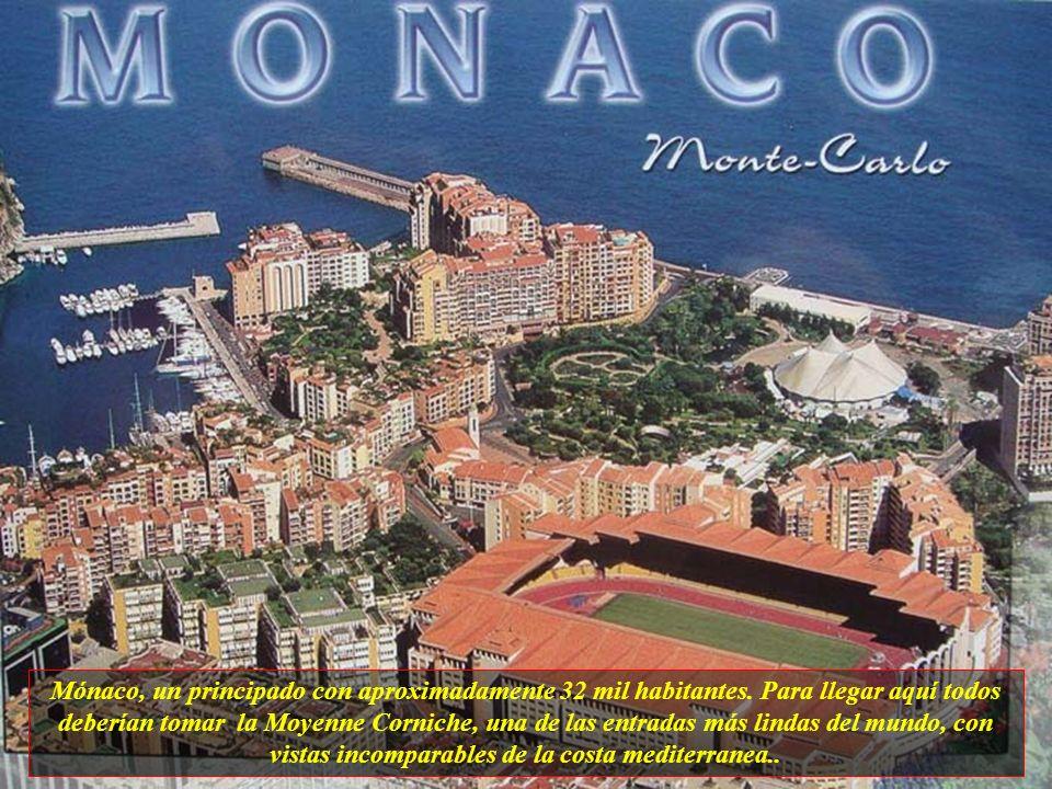 Mónaco, un principado con aproximadamente 32 mil habitantes