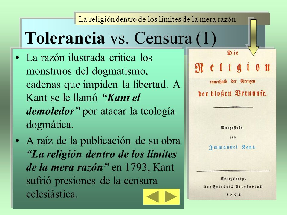 Tolerancia vs. Censura (1)
