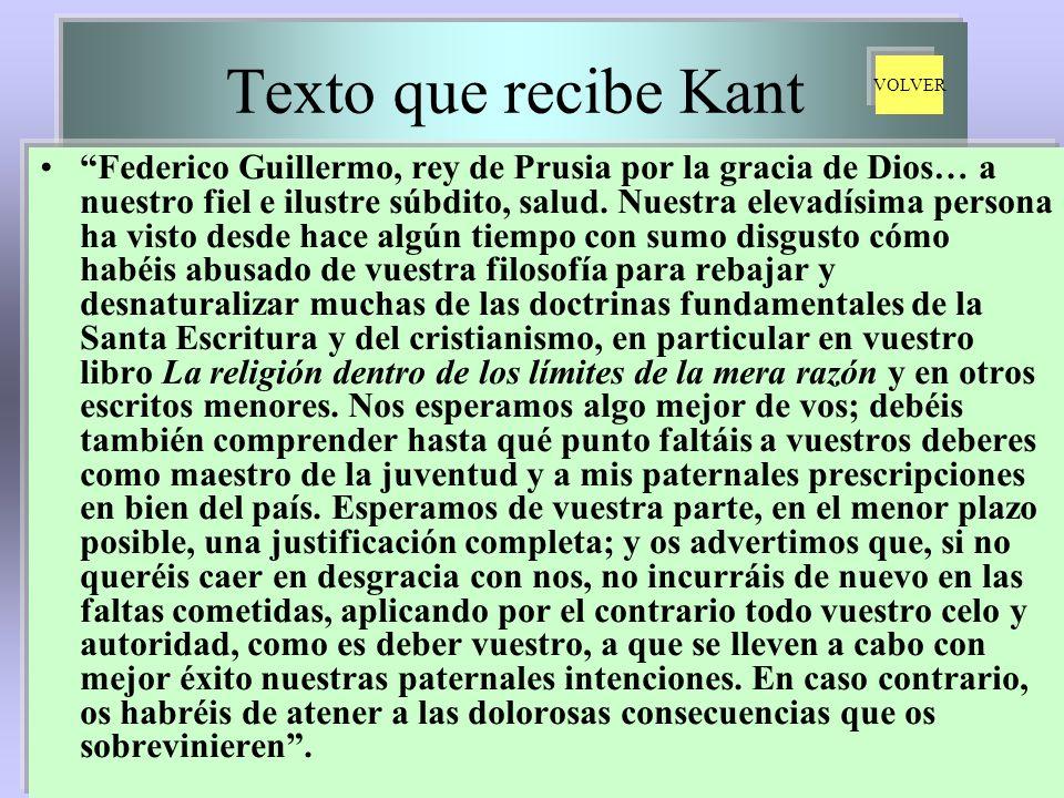 Texto que recibe Kant VOLVER.