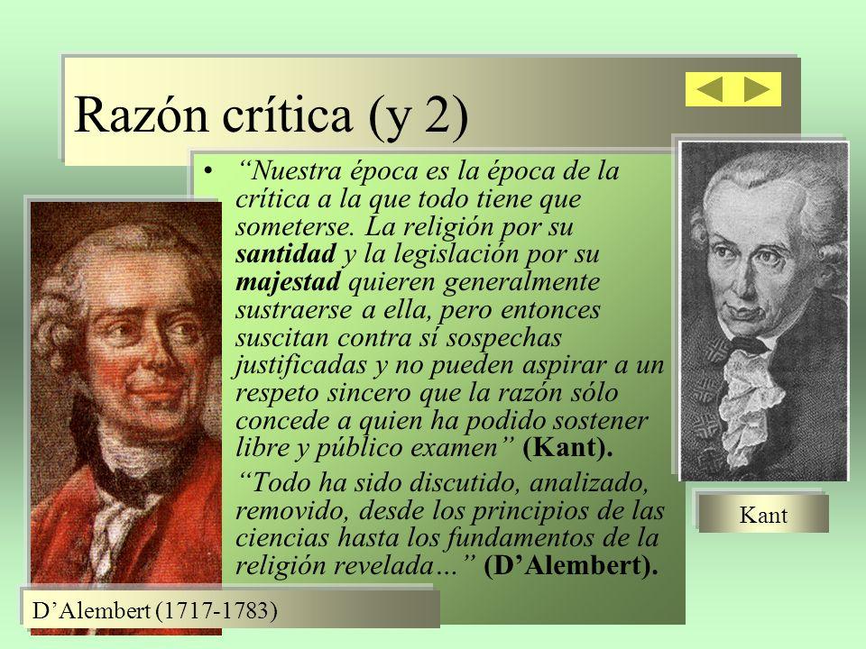Razón crítica (y 2)