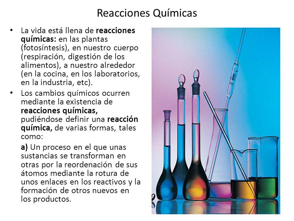 Reacciones qu micas la vida est llena de reacciones for Cambios quimicos en la cocina