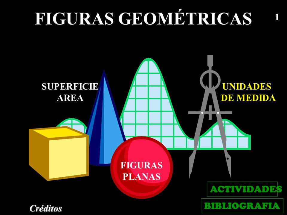 FIGURAS GEOMÉTRICAS SUPERFICIE AREA UNIDADES DE MEDIDA FIGURAS PLANAS