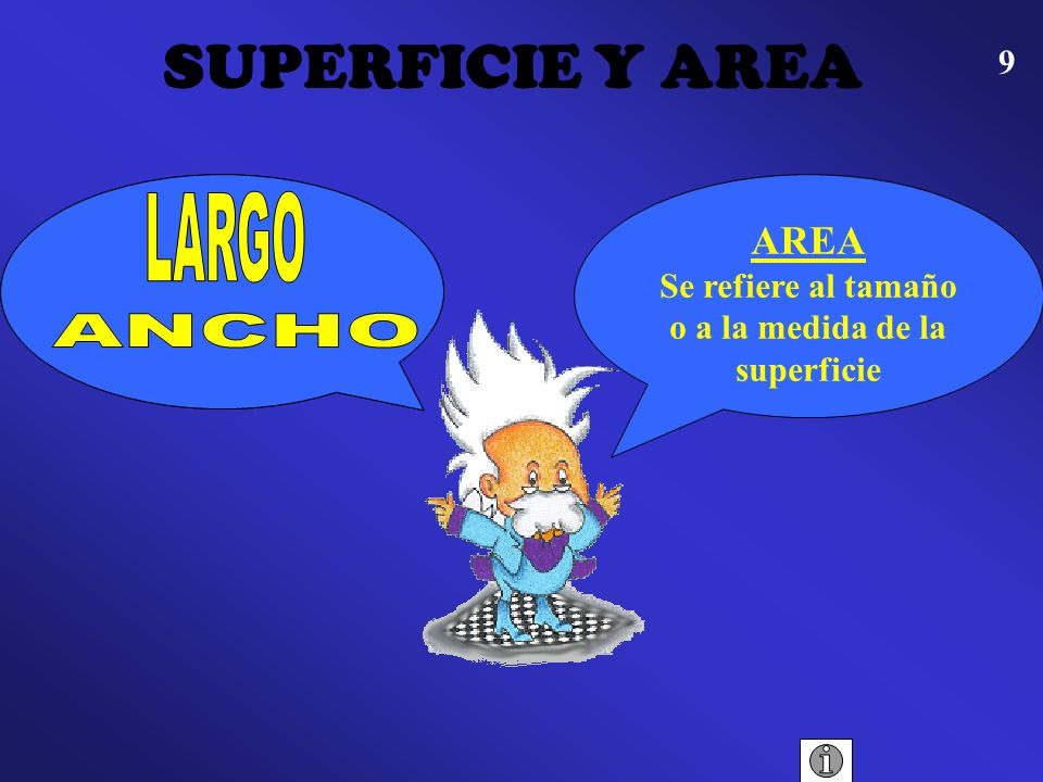 SUPERFICIE Y AREA LARGO ANCHO SUPERFICIE AREA