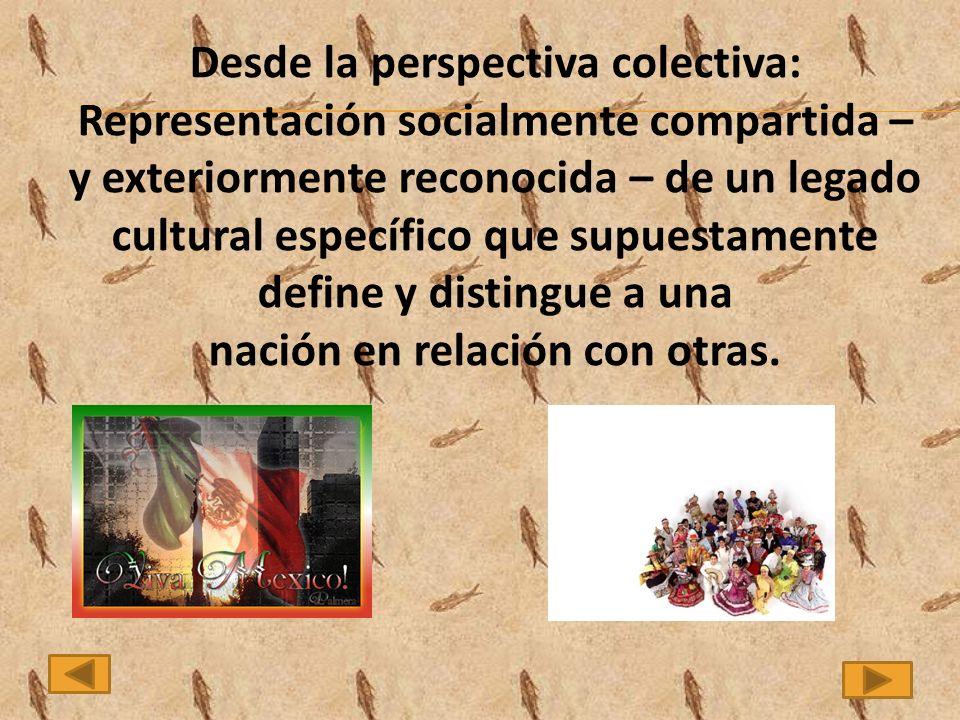 Desde la perspectiva colectiva: nación en relación con otras.