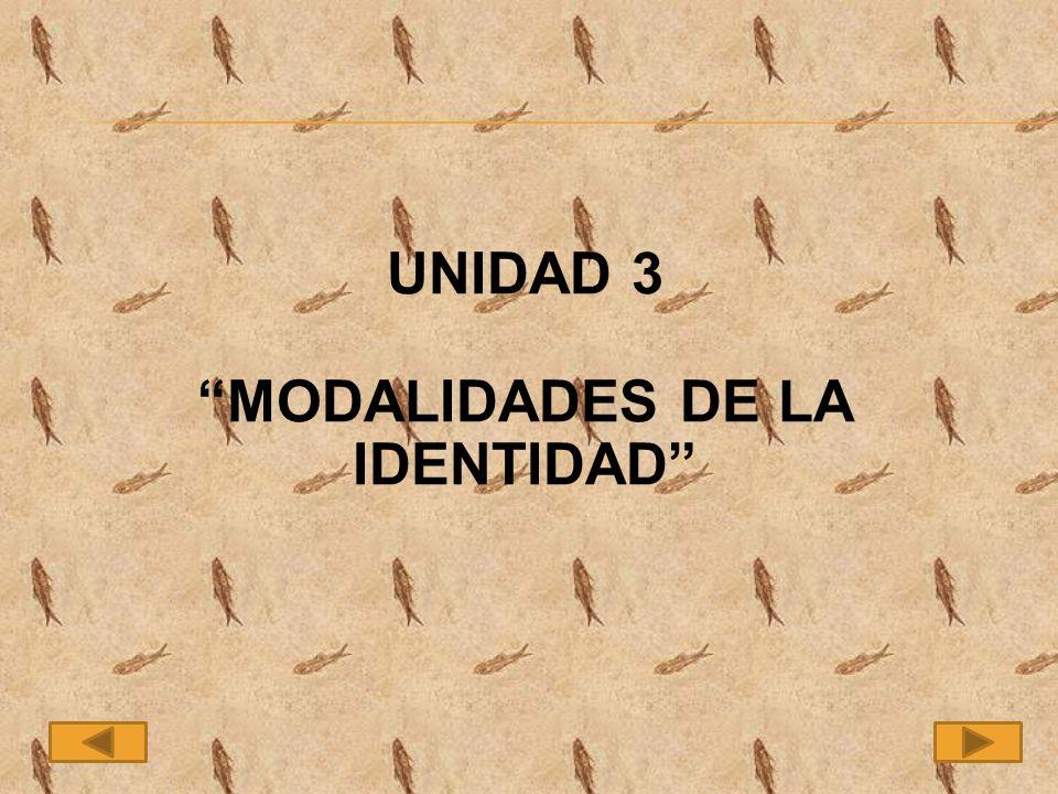 MODALIDADES DE LA IDENTIDAD