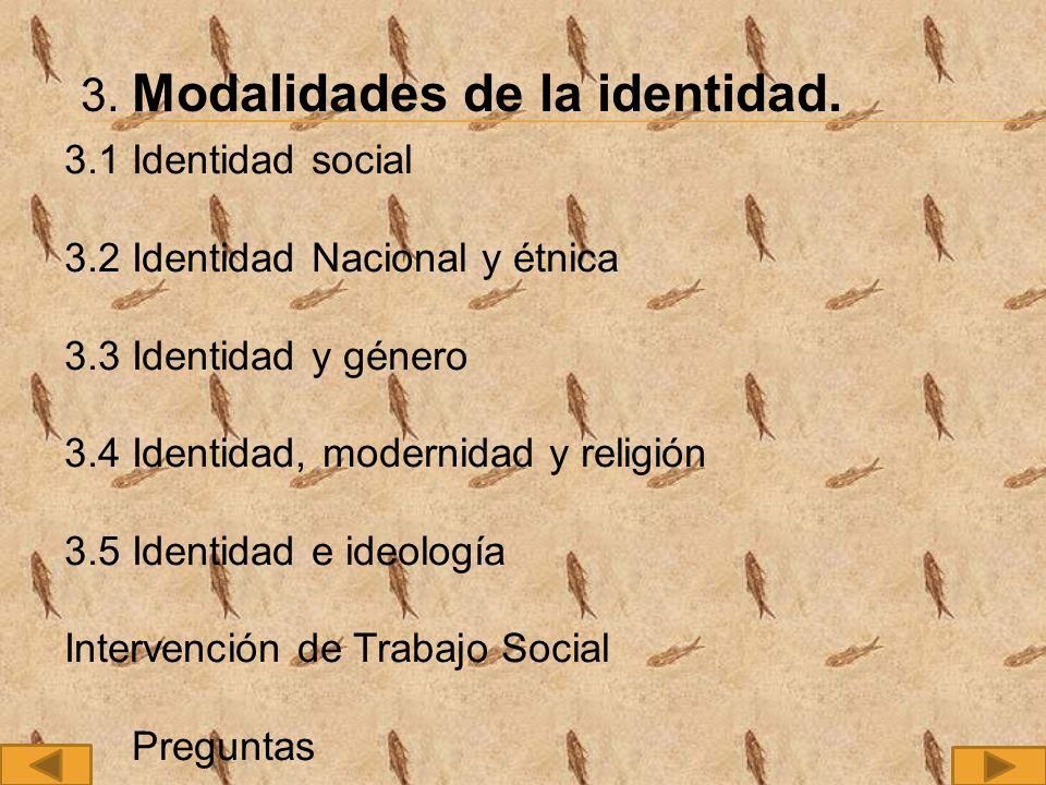3. Modalidades de la identidad.