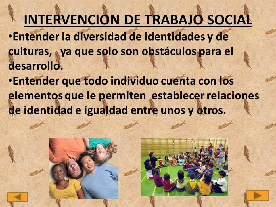 INTERVENCION DE TRABAJO SOCIAL