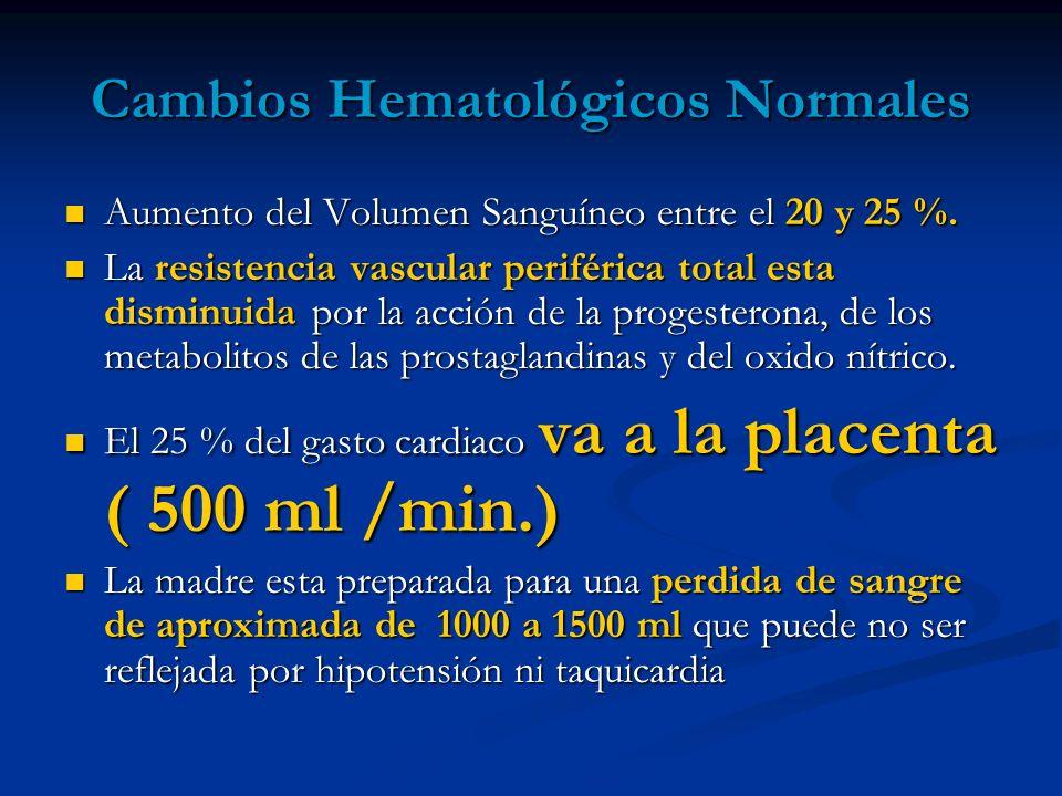 Cambios Hematológicos Normales