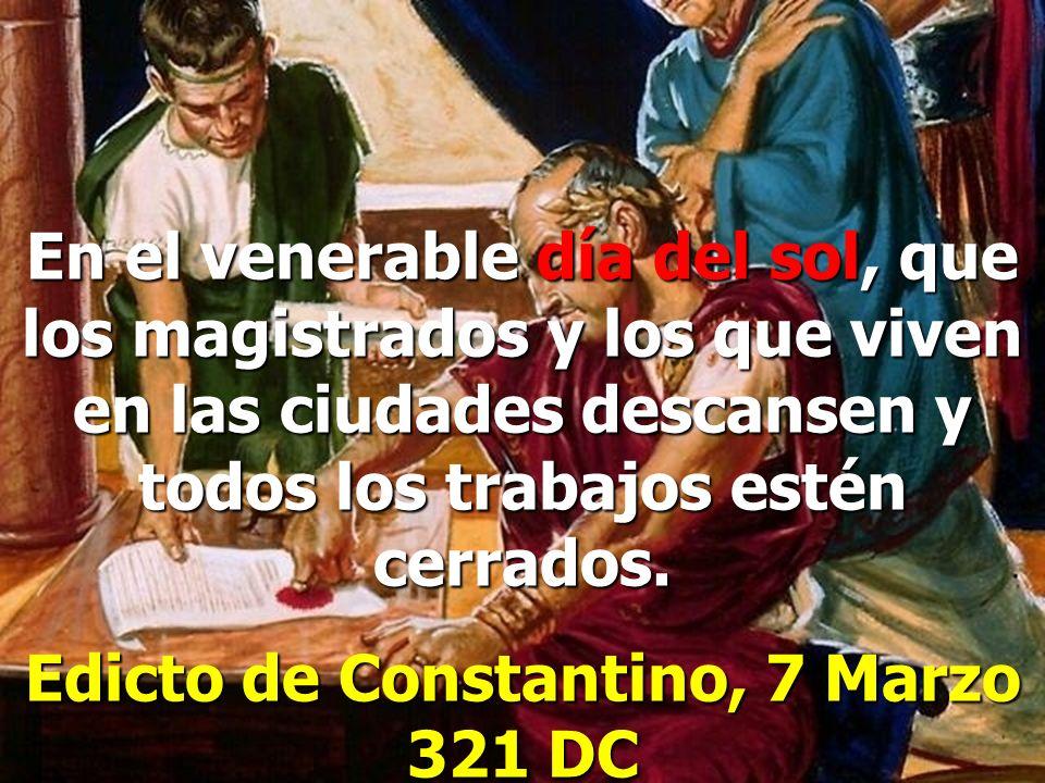Edicto de Constantino, 7 Marzo 321 DC