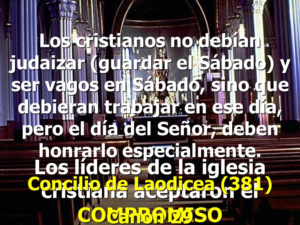 Los líderes de la iglesia cristiana aceptaron el COMPROMISO