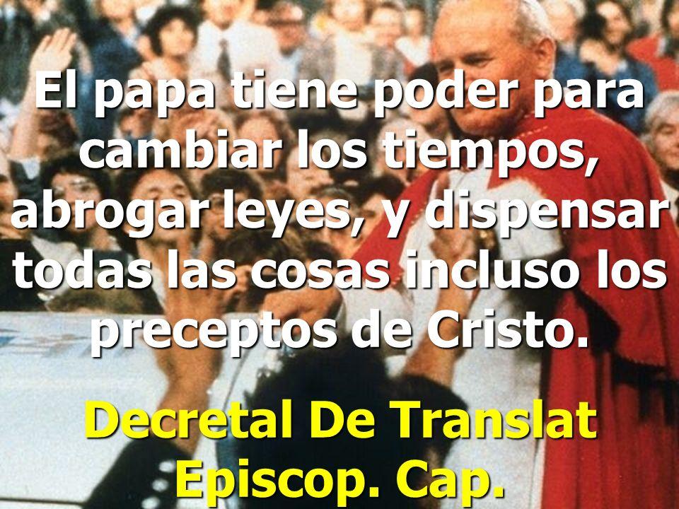 Decretal De Translat Episcop. Cap.
