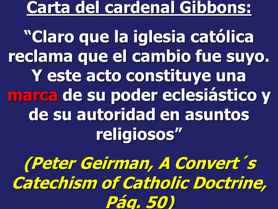 Carta del cardenal Gibbons: