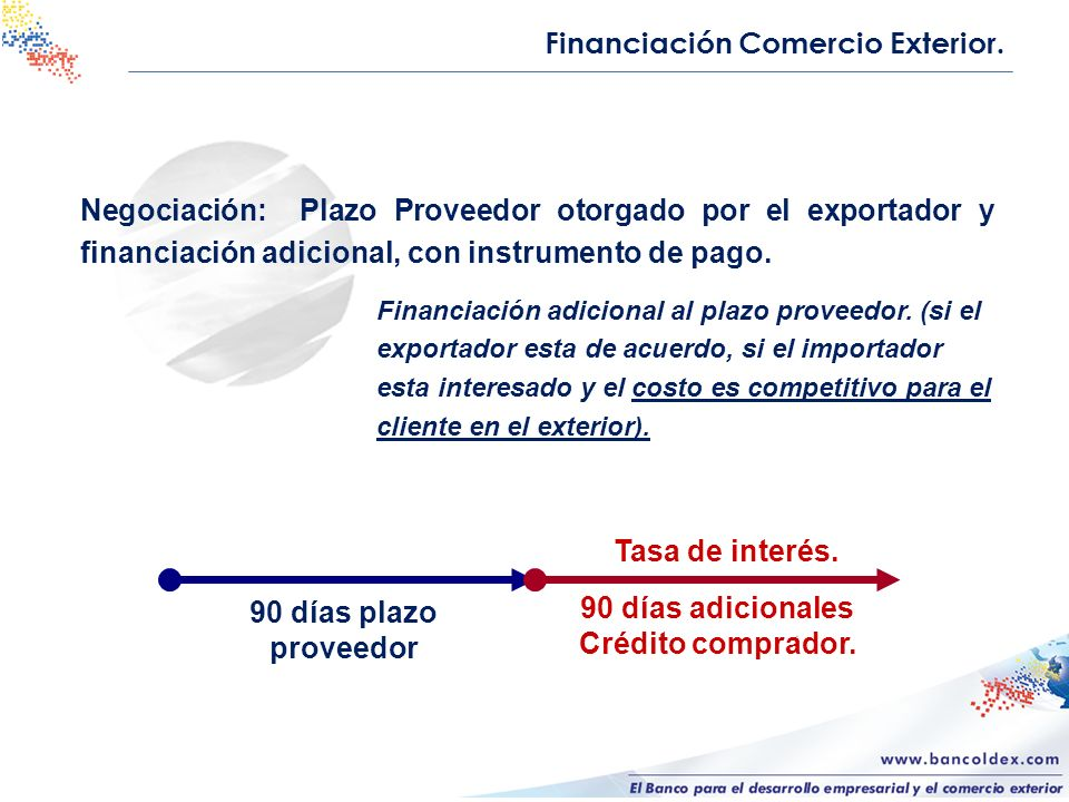 Financiación Comercio Exterior.