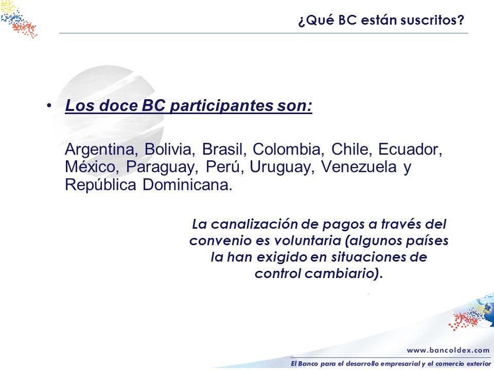 Los doce BC participantes son: