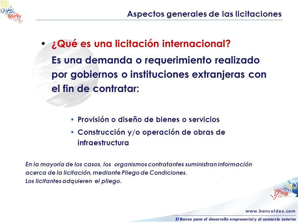 ¿Qué es una licitación internacional