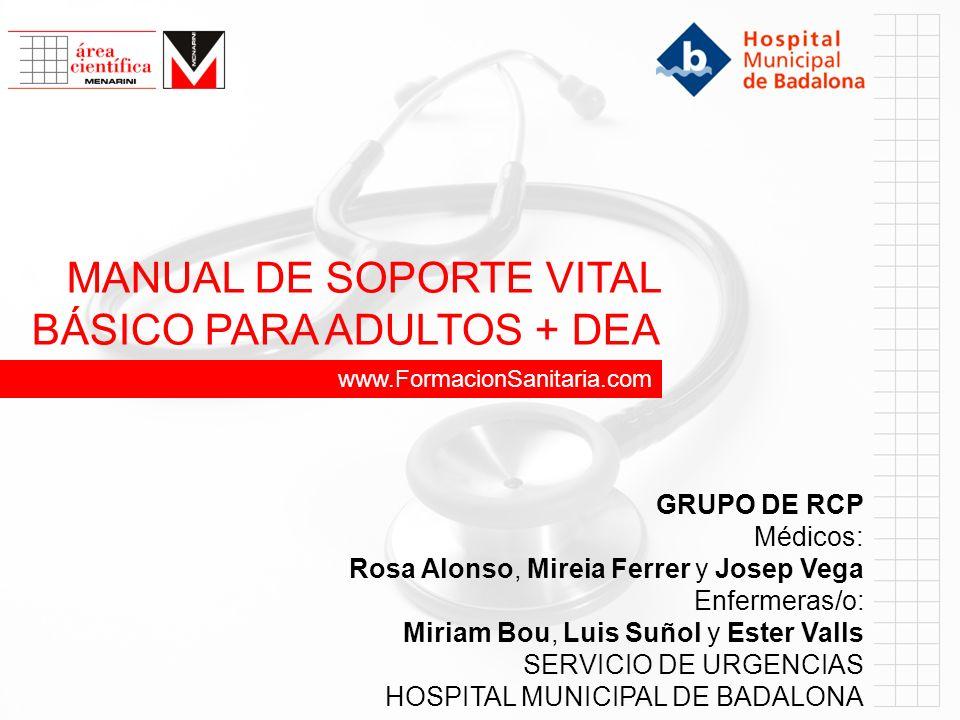 MANUAL DE SOPORTE VITAL BÁSICO PARA ADULTOS + DEA