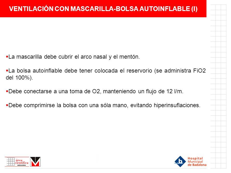 VENTILACIÓN CON MASCARILLA-BOLSA AUTOINFLABLE (I)