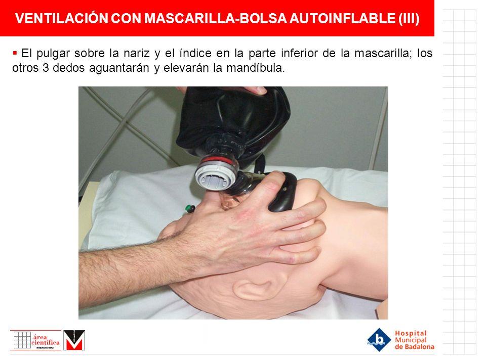 VENTILACIÓN CON MASCARILLA-BOLSA AUTOINFLABLE (III)