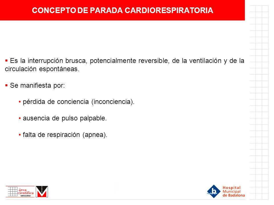 CONCEPTO DE PARADA CARDIORESPIRATORIA