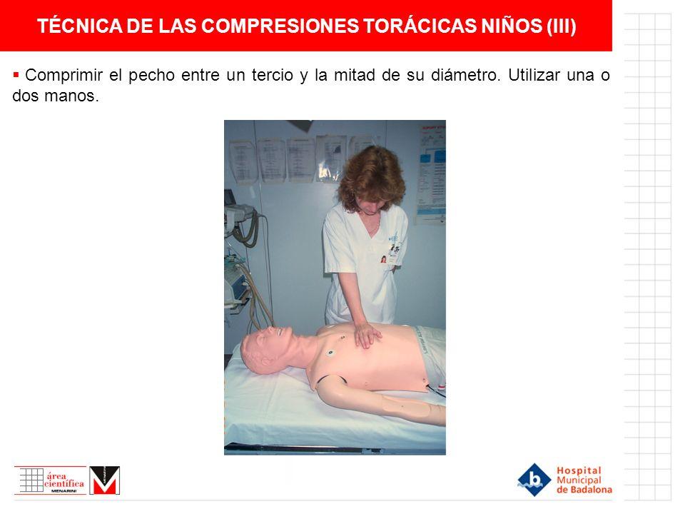 TÉCNICA DE LAS COMPRESIONES TORÁCICAS NIÑOS (III)