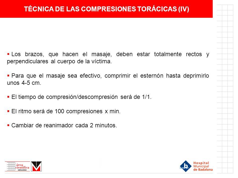 TÉCNICA DE LAS COMPRESIONES TORÁCICAS (IV)