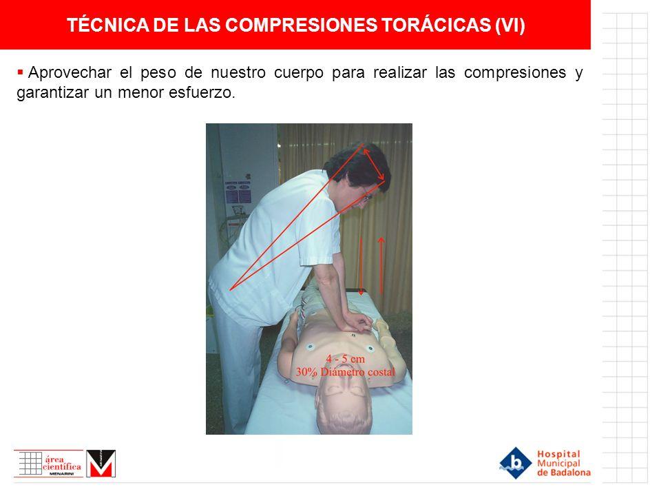 TÉCNICA DE LAS COMPRESIONES TORÁCICAS (VI)