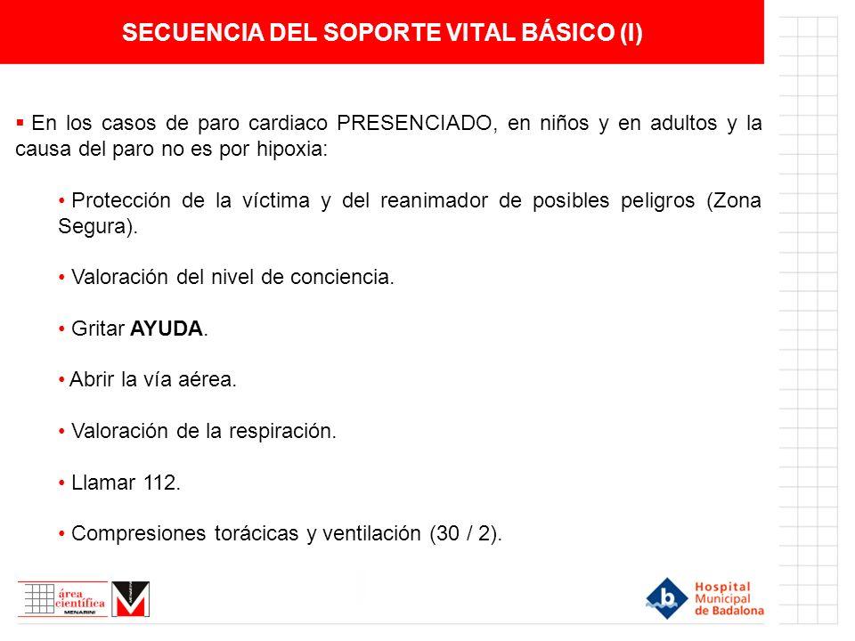 SECUENCIA DEL SOPORTE VITAL BÁSICO (I)