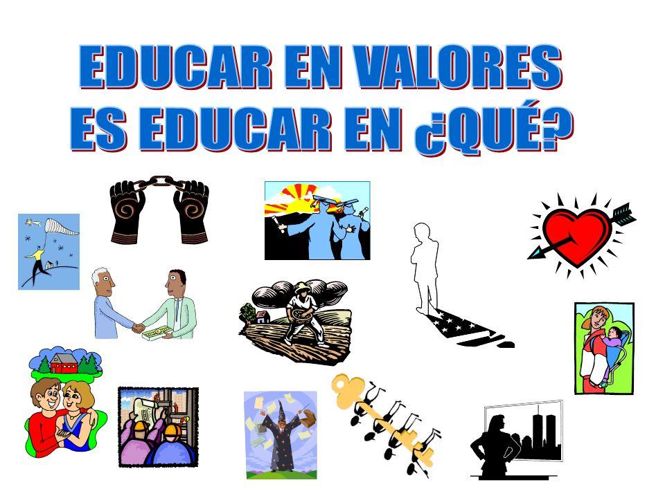 EDUCAR EN VALORES ES EDUCAR EN ¿QUÉ