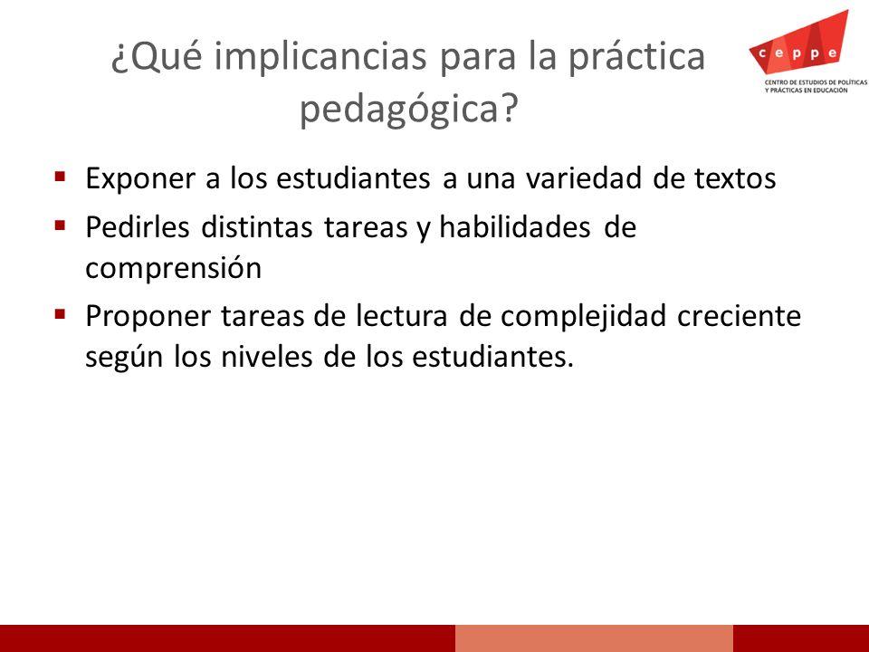 ¿Qué implicancias para la práctica pedagógica