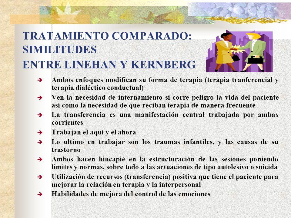 TRATAMIENTO COMPARADO: SIMILITUDES ENTRE LINEHAN Y KERNBERG