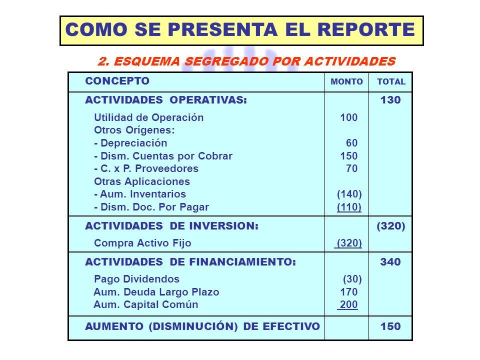 COMO SE PRESENTA EL REPORTE