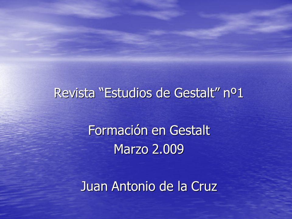 Revista Estudios de Gestalt nº1
