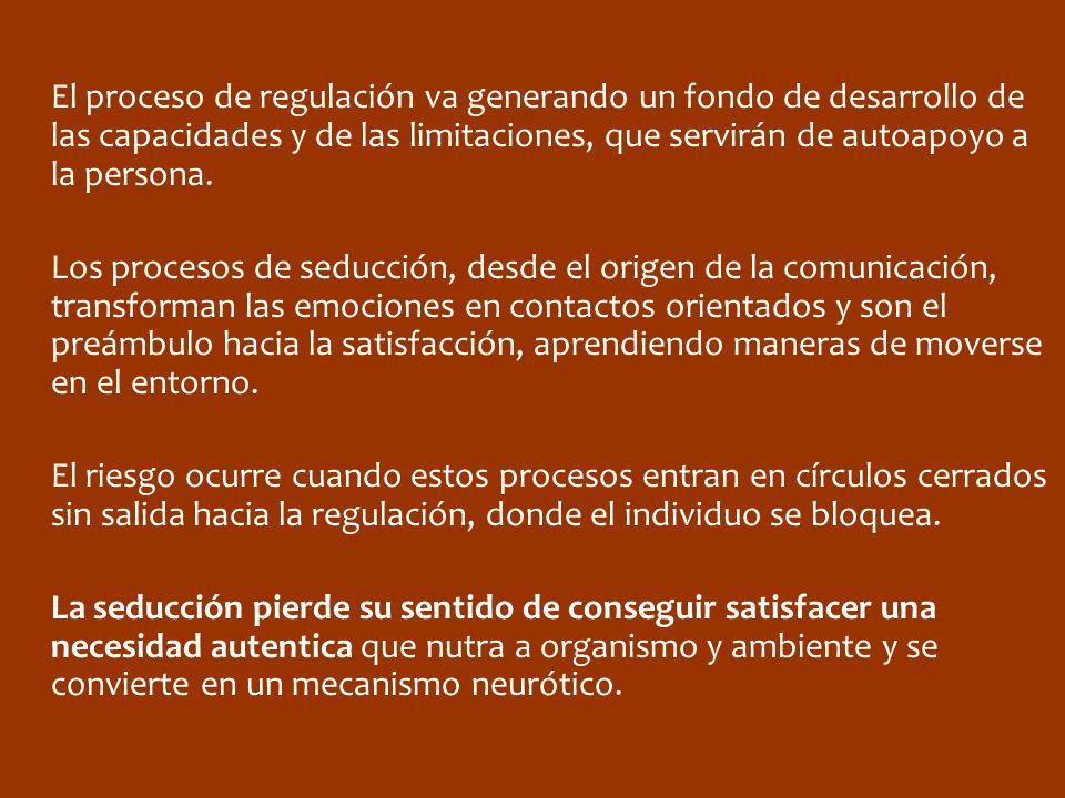 El proceso de regulación va generando un fondo de desarrollo de las capacidades y de las limitaciones, que servirán de autoapoyo a la persona.