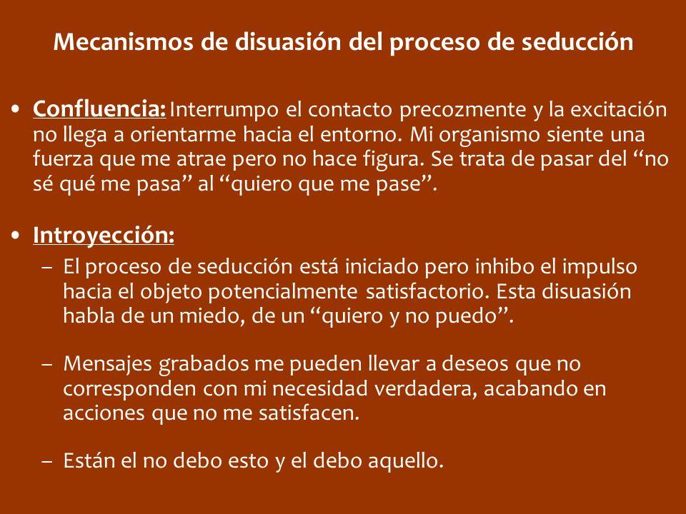 Mecanismos de disuasión del proceso de seducción