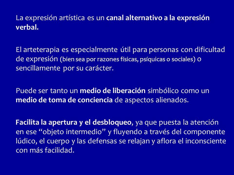 La expresión artística es un canal alternativo a la expresión verbal.