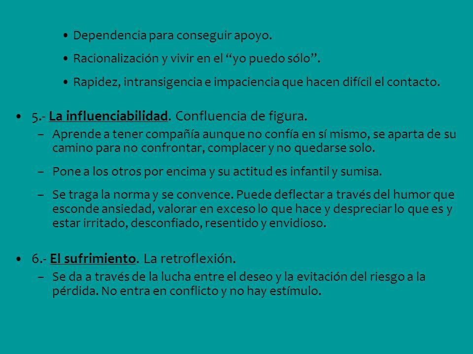 5.- La influenciabilidad. Confluencia de figura.